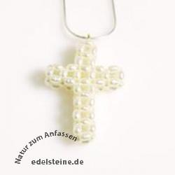 Kreuz aus echten Perlen