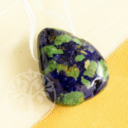 Azurite Malachite darkblue Gemstone Pendant 0412