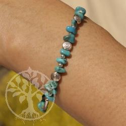 Turquoise Bracelet Silver Snake