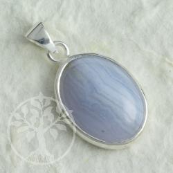 Chalcedon Blue Wave Silber Anhänger 11051 Silberanhänger 925
