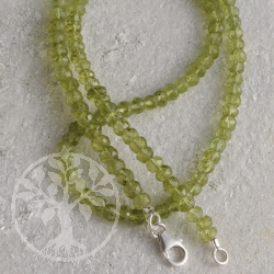Peridot Necklace Facetted Beads 3-4 mm