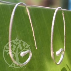 Ohrhänger Silberne Schlange Silber 925