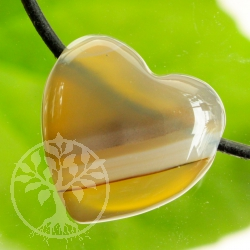 Agate Heart pendant rounded 20mm