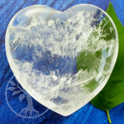Crystal Quartz Heart 55-60mm