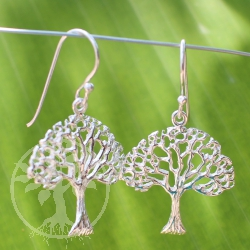 Silver Ear Pendant Storybook Tree