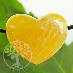 Orangencalcit Herz Anhänger Belly 30*25mm AA