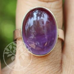 Amethyste Silver Ring oval Sterlingsilver