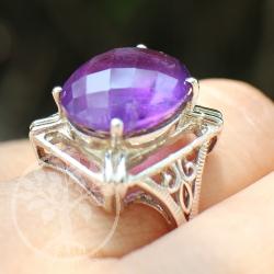 Amethyste Silver Ring majesty