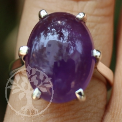 Amethyste Silver Ring oval 029