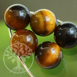 Tiger Eye Golden 8mm Sphere no hole.