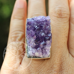 Amethystring natural in Silber 030
