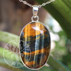 Tigers Eye sterling silver oval AA