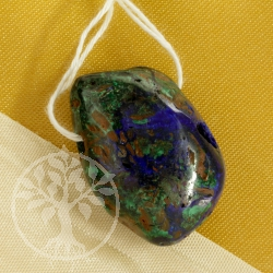 Azurite Malachite blue green Gemstone Pendant 0433