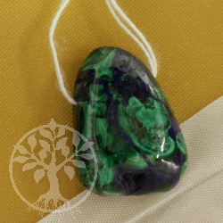 Azurite Malachite blue green Gemstone Pendant 0429