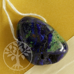 Azurite Malachite blue green Gemstone Pendant 0437