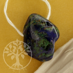 Azurite Malachite blue green Gemstone Pendant 0449