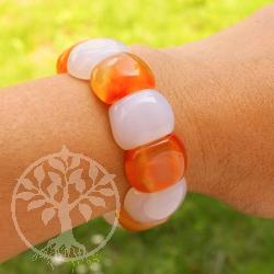 Karneol Achat Armband Sommerfrische