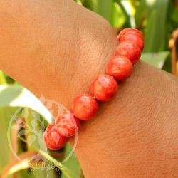 Coral Bracelet  Ball Beads 10mm