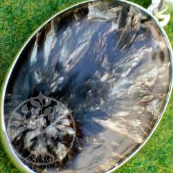 Astrophyllit spektakulärer Sterling Silber 925 Anhänger