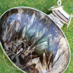 Astrophyllite Sterling Silver Pendant 925 nice silver eyelet