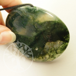 Moos Agate Pendant XXL Forest