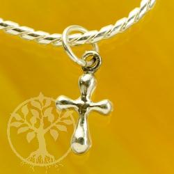 Kreuz runde Formen 925 Sterling Silber
