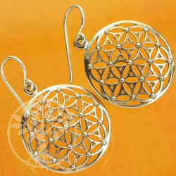 Flower of Life Earrings Sterling Silver 925