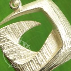 Silberanhänger 925 dynamisches Quadrat