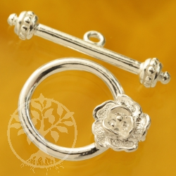 Toggle Clasp Flower Silver 925