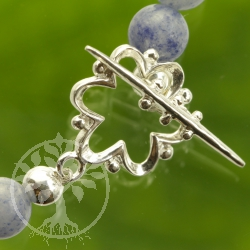 Flower Toggle Clasp Sterling Silver