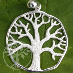 Tree of Life bright sterling silver pendant 925