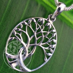 Tree of Life devoured silver pendant sterling 925