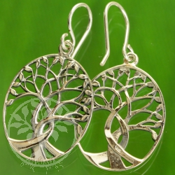 Tree of Life intricate Sterling Silver Earrings 925