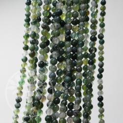 Achat Moos Edelstein Perlen 3-4 mm Kugel