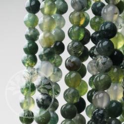 Achat Moos Edelstein Perlen 5-6 mm Kugel