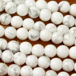 Magnesit Mini Perlenstrang Kugel 5-6 mm