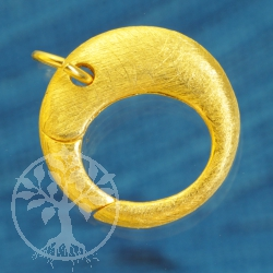 Ring Tigger Clasp 18 mm Gold plated brushed