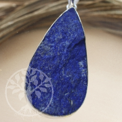 Natural lapis lazuli 925 silver pendant Blauer Reiter