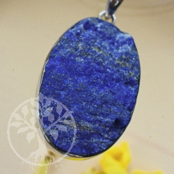 Natural lapis lazuli 925 silver pendant Streifling