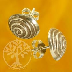 Silber Ohrstecker Sterlingsilber Spirale geschwärzt