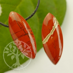 Red Jasper Gemstone Pendant biconvex