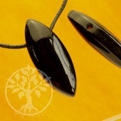 Biconvex Onyx Gemstone Pendant