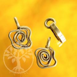 Blumige Spirale Sterling Silberanhänger 925
