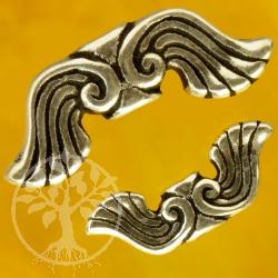 Water angel Wings Sterlingsilver Beads 925