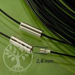 Black stainless steel choker 45cm