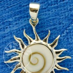 Shiva sun 925 sterling silver pendant