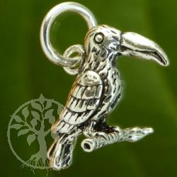 Kakadu Papagei Silberanhänger 925