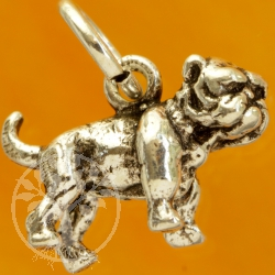 Mops / Bulldoge Sterling Silber Anhänger 925
