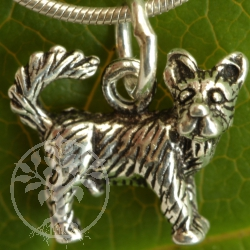 Terrier dog in sterling silver as a pendant 925