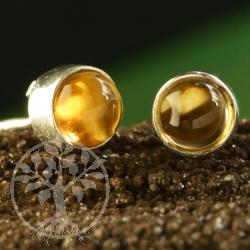 Citrine Stud Earrings 5mm Sterling Silver 925